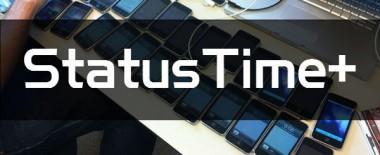 iPhoneのステータスバーに日付などを表示する脱獄アプリ「StatusTime+」は標準機能にすべきだと思う