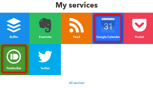 IFTTT My services