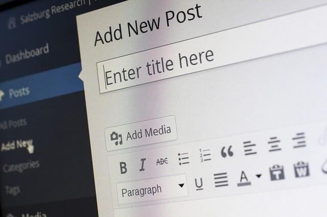 ブログ WordPress