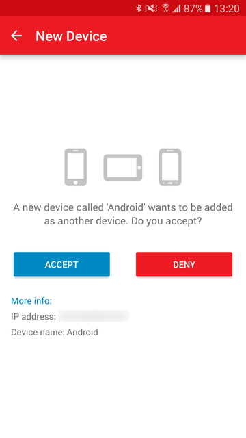 Authy New Device