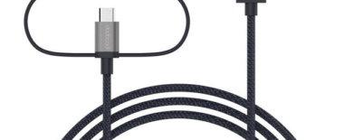 【レビュー】dodocoolの3in1変換ケーブルは1本でUSB-typeC・ライトニング・microUSBの3つが充電できる優れもの!MFi認証済みで安心