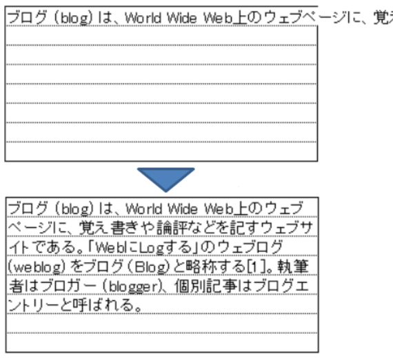 Excel セルの割付