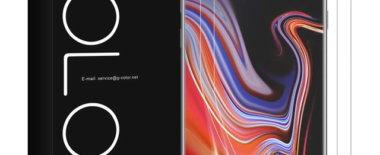 Galaxy Note9の保護フィルム「G-Color」レビュー!サイドの曲面までカバー・2枚入りでコスパ高し